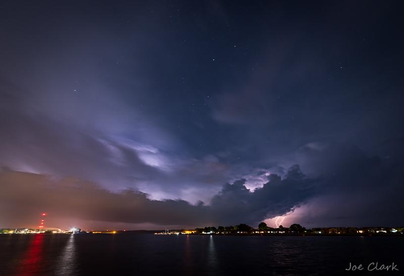 Lightning over Crosswinds by Joe Clark_