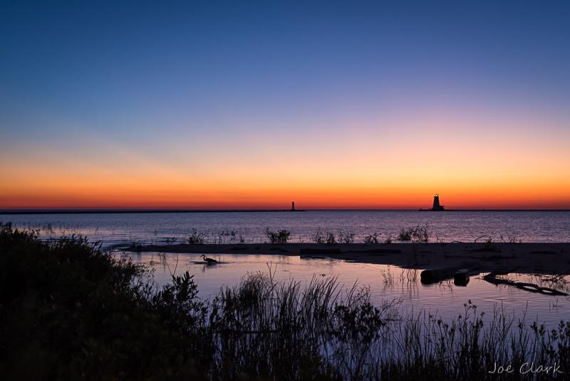 Loon's Sunset 2 by Joe Clark_