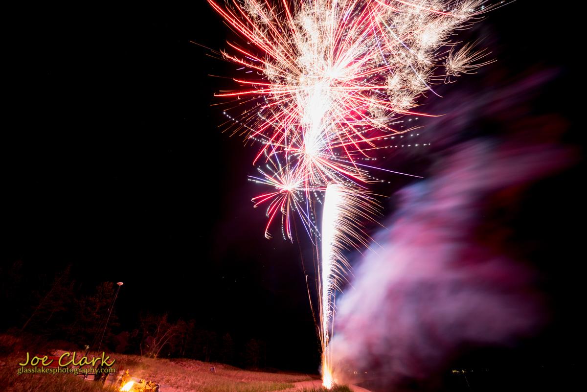 Evening of fireworks.
