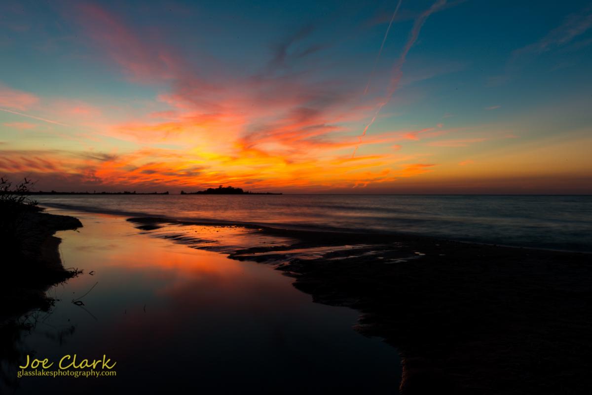 Sunset behind Fisherman's Island
