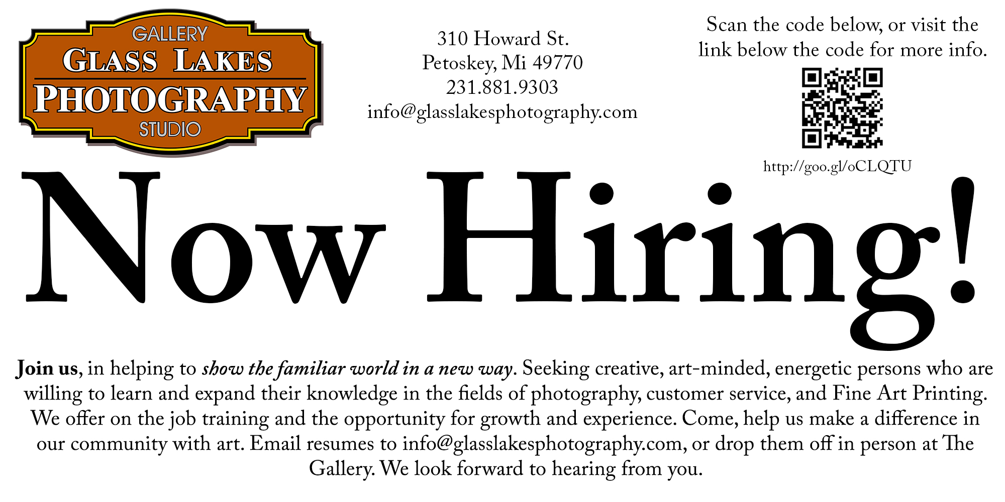 Gallery Assistant Needed